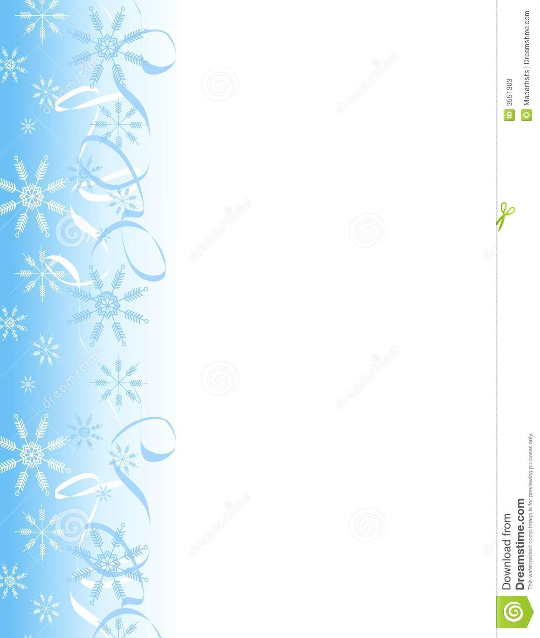 clip art illustration of a decorative Christmas page border with ...
