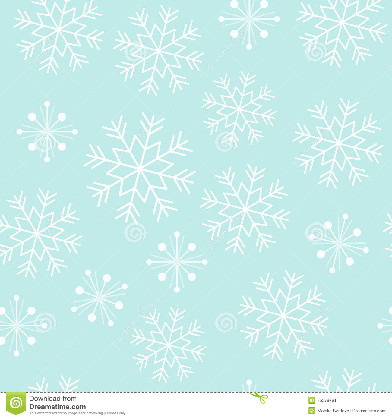snowflake seamless pattern stock vector illustration of