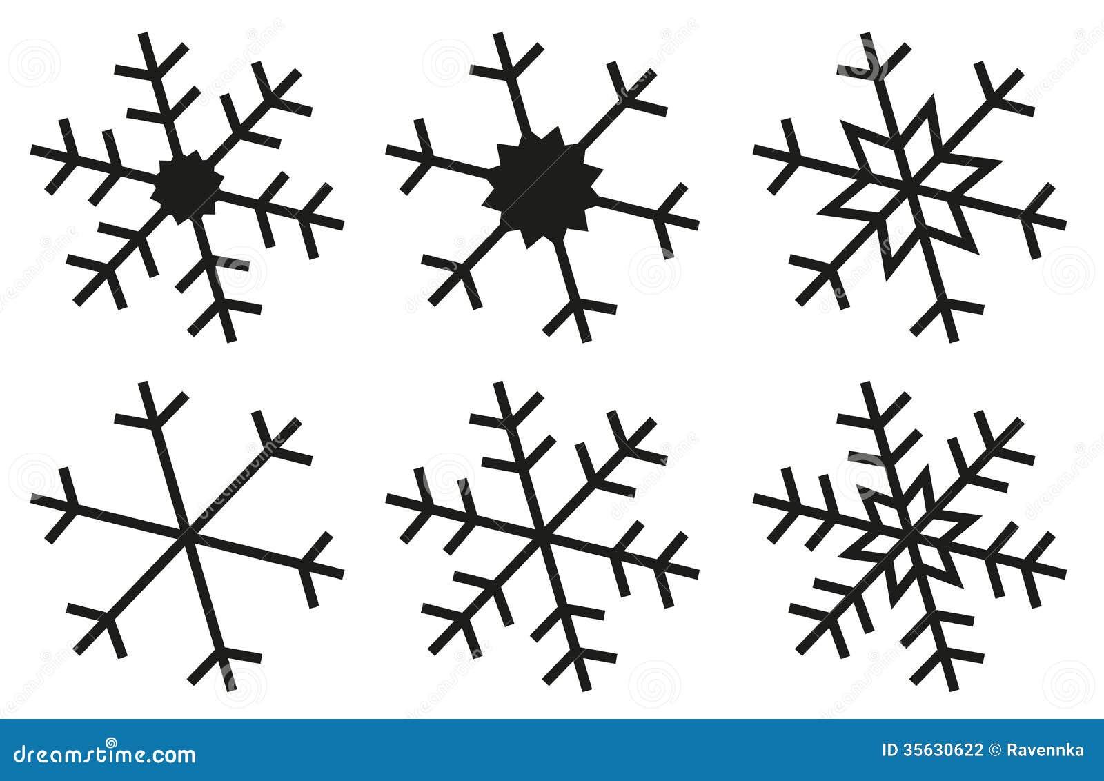 Simple Snowflake Silhouette Snowflake silhouettes