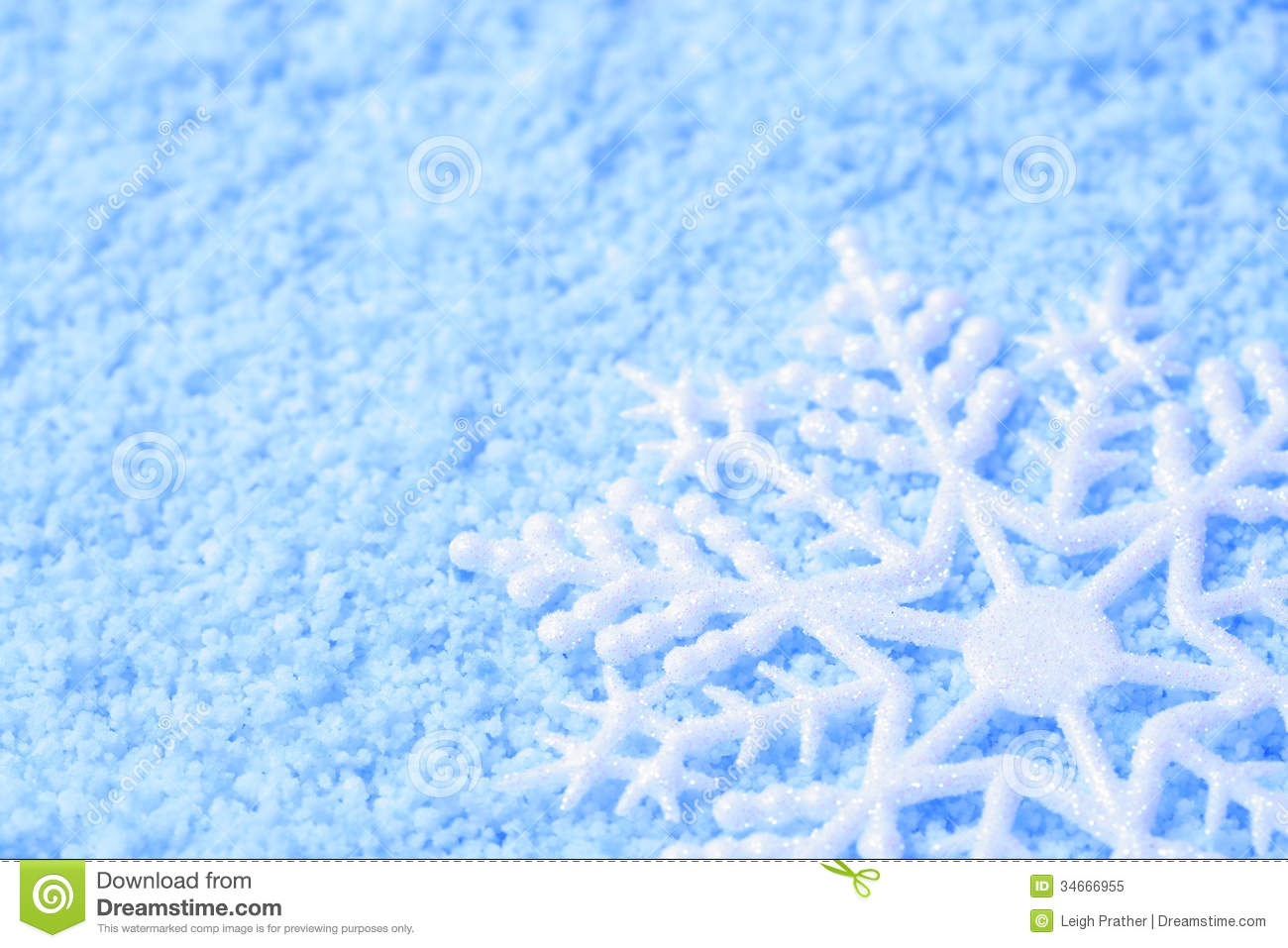 Snowflake In Snow Royalty Free Stock Photo Image 34666955
