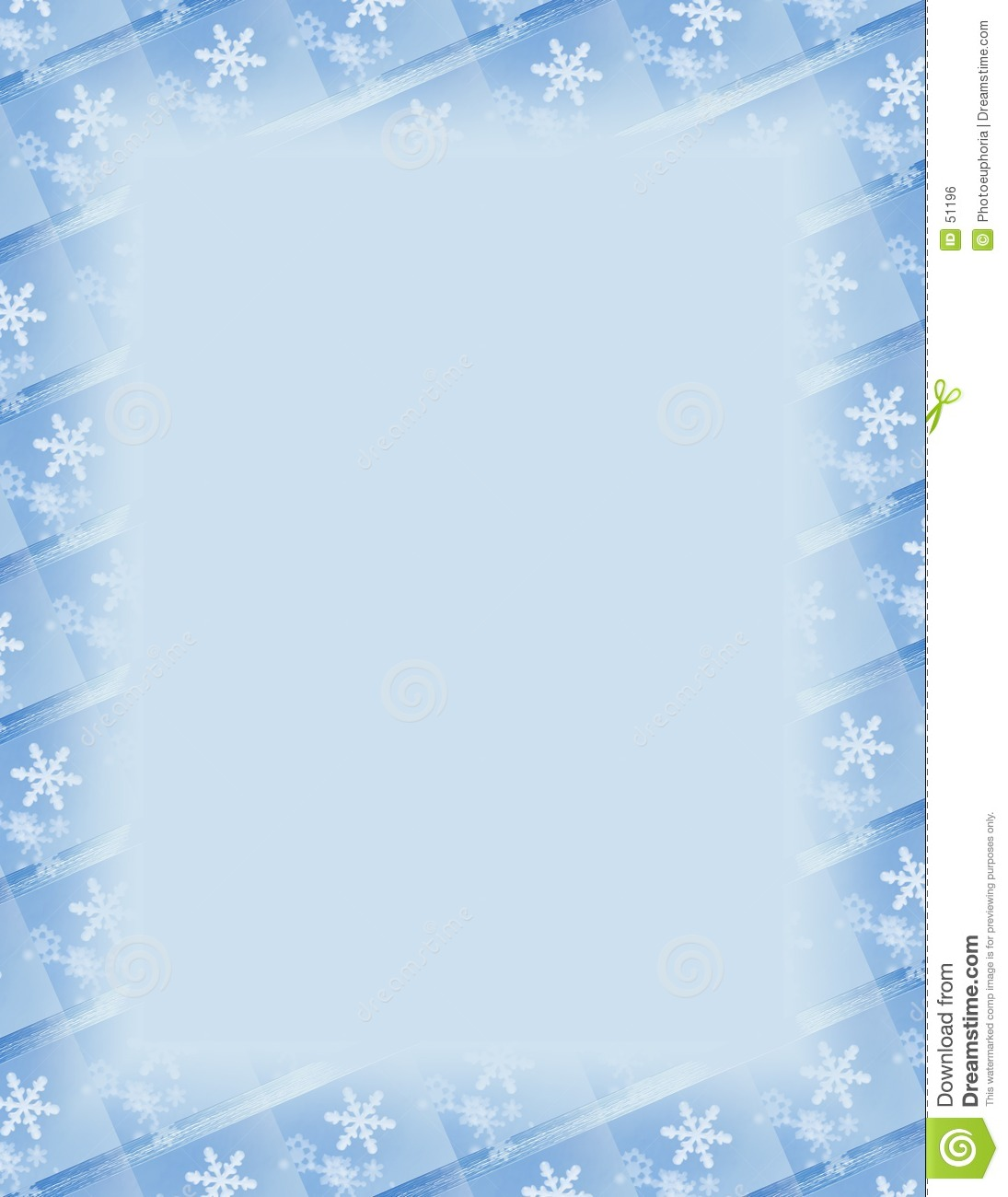 Snowflake Tile Border Over Blue Royalty Free Stock Image - Image ...