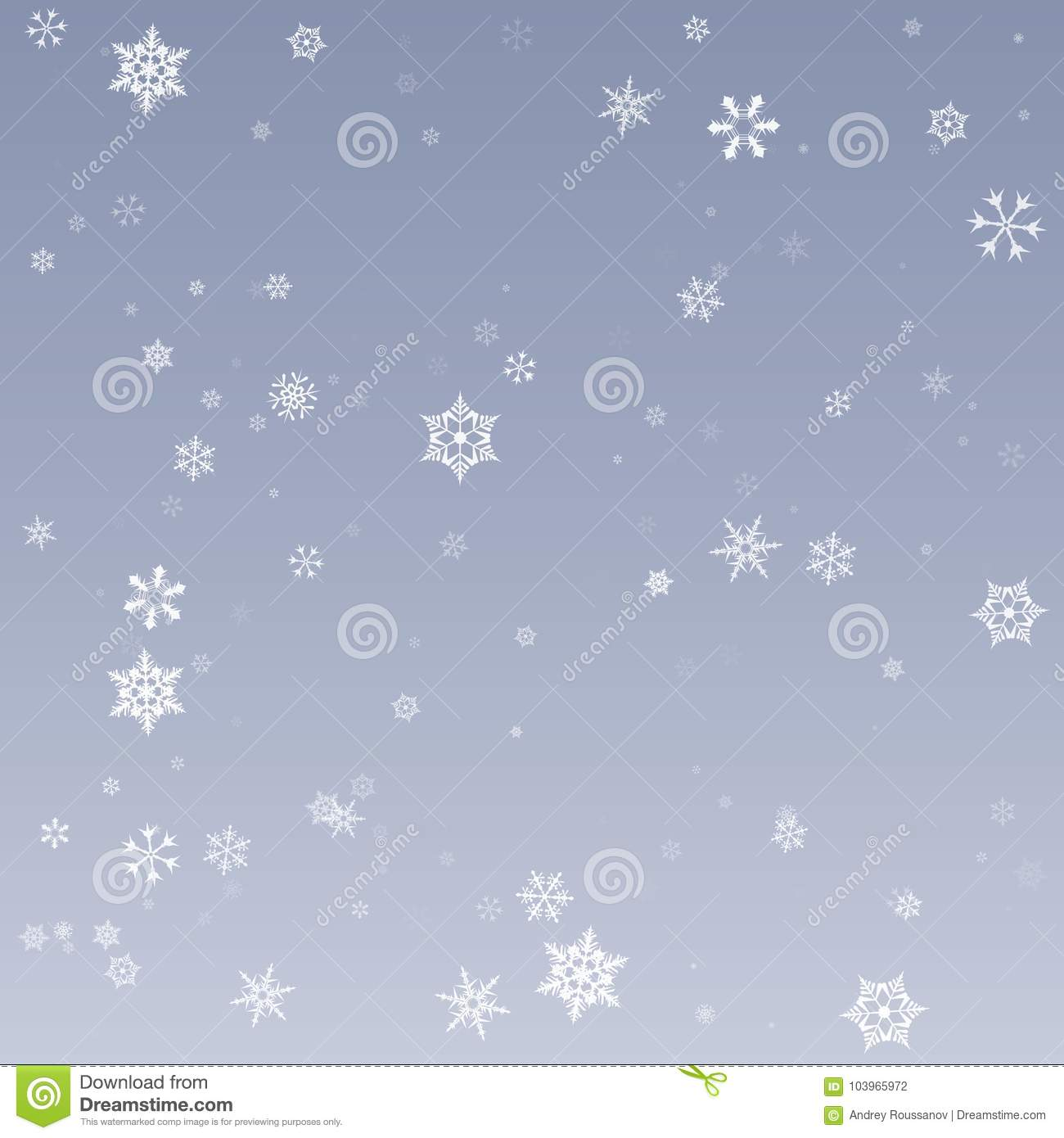 Snowflake Vector. Falling Christmas Snow Fall Isolated ...