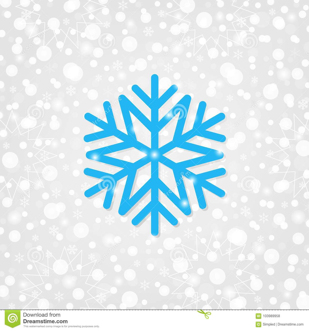 Snowflake Vector Symbol For Decoration. Merry Christmas ...