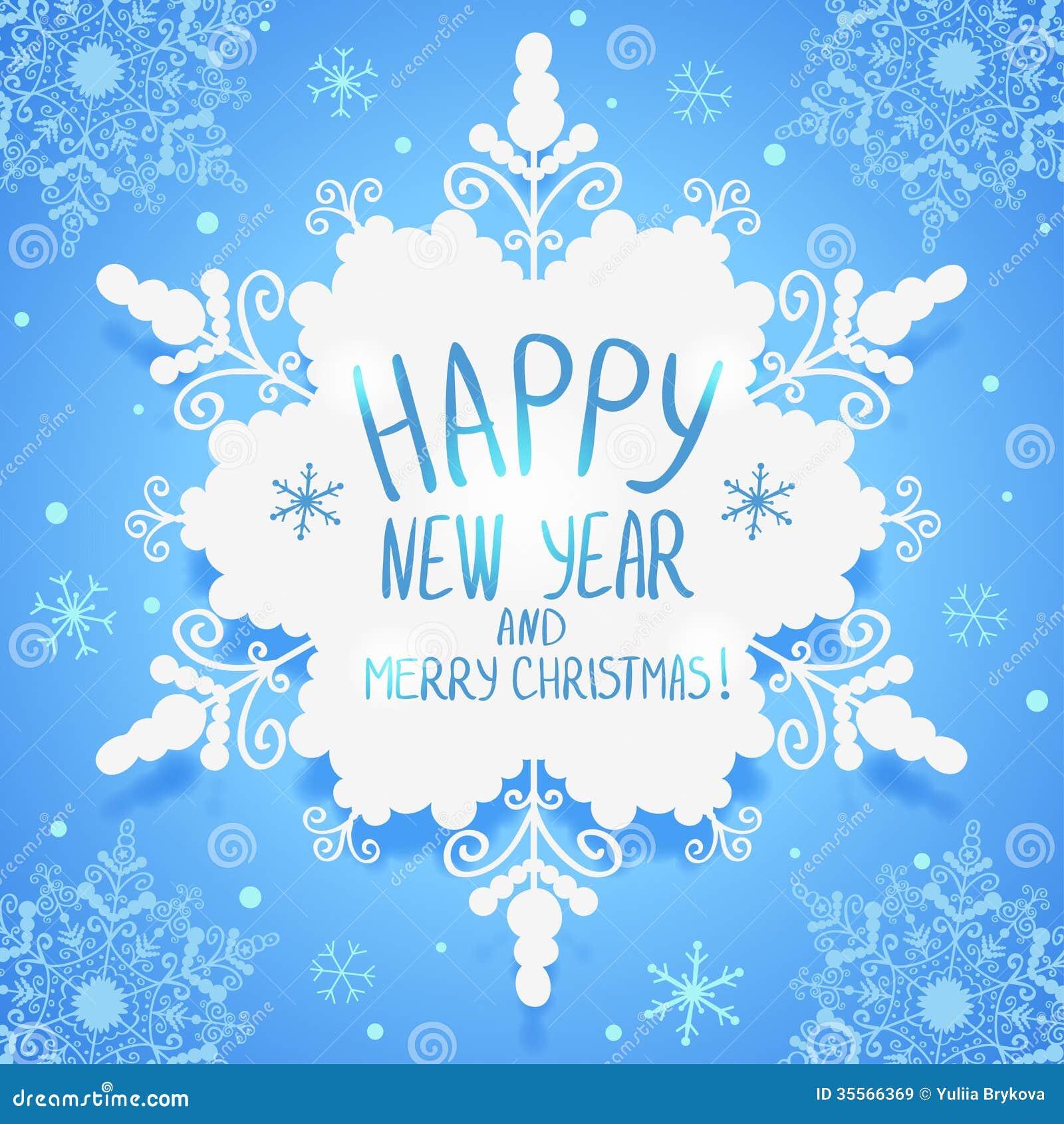Snowflake wallpaper beautiful design snowflakes text christmas new