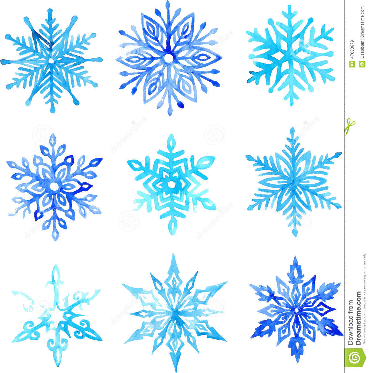 Snowflake free vector download 1673 Free vector for