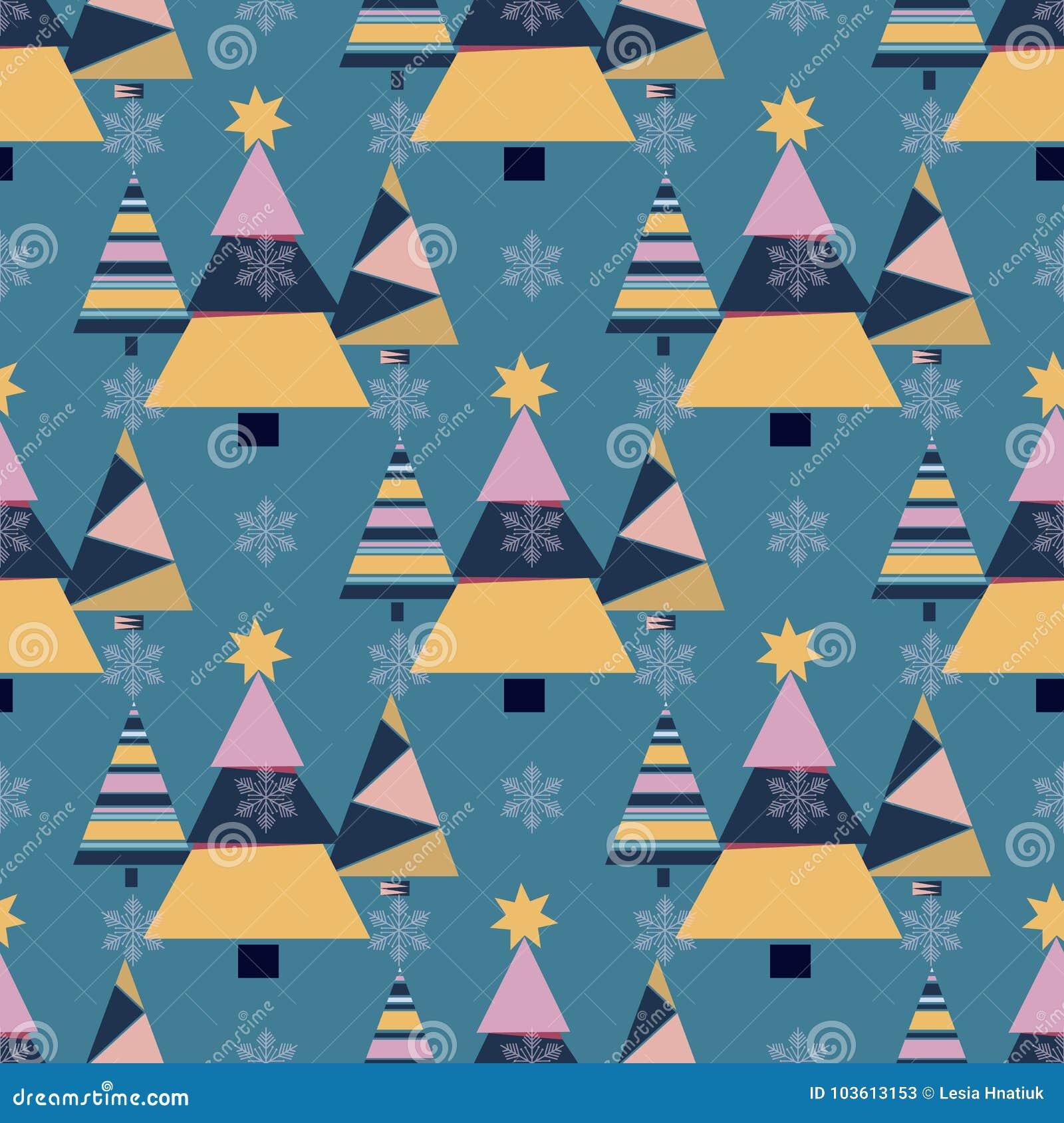 Snowflake winter christmas tree holiday fir-tree design season december snow star celebration ornament vector
