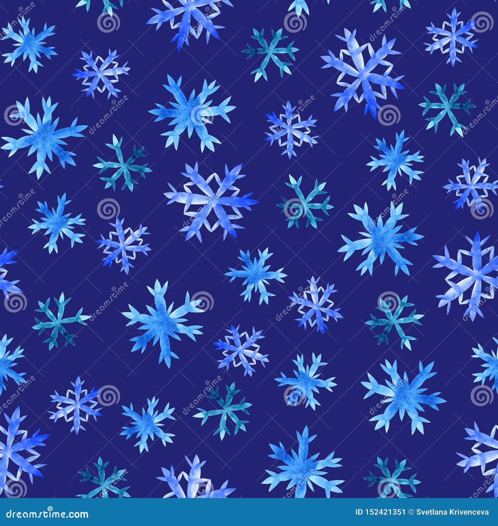 Snowflakes άνευ ραφής σχέδιο