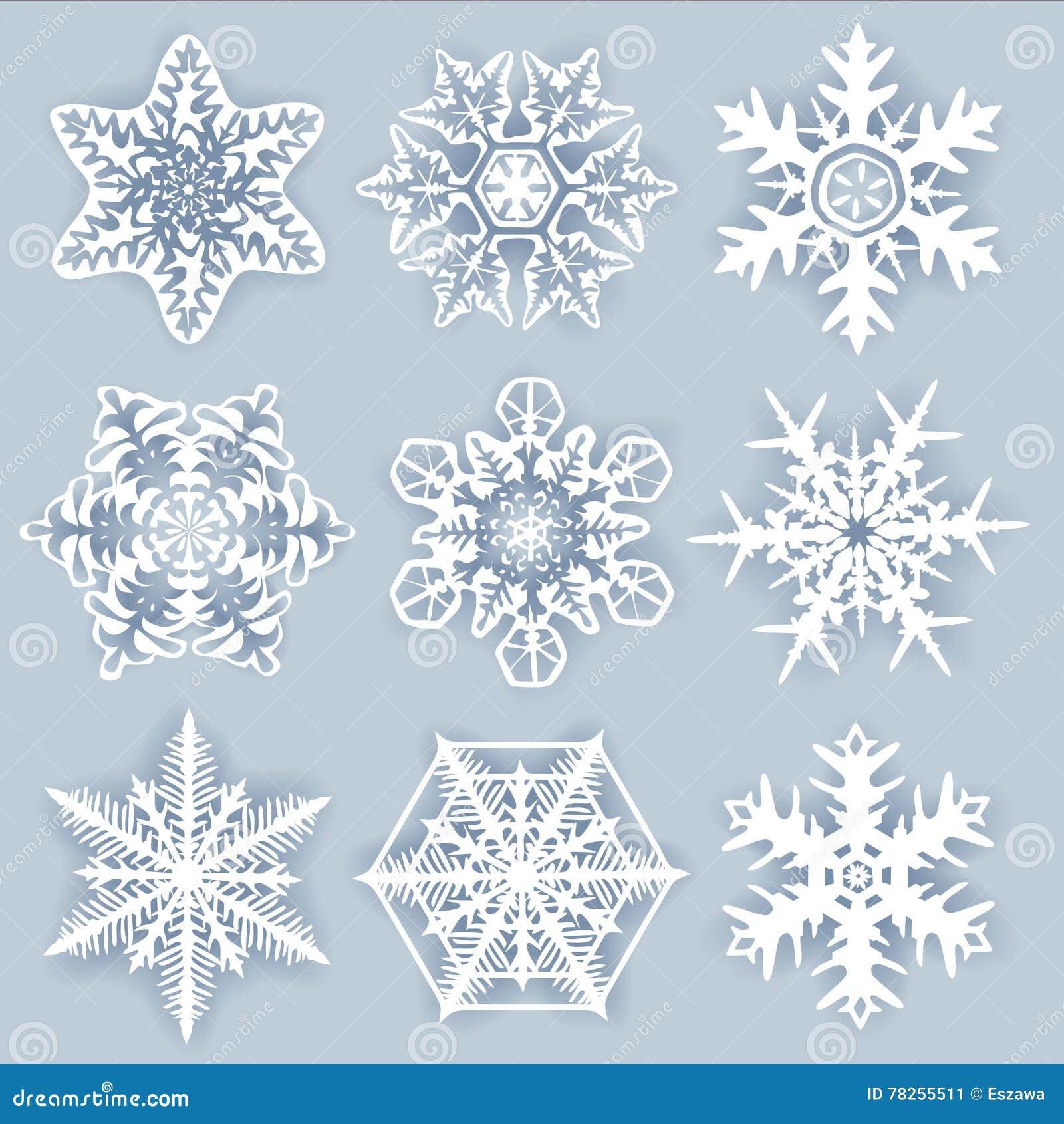 Snowflakes κρυστάλλου - διάνυσμα που τίθεται για τους σχεδιαστές