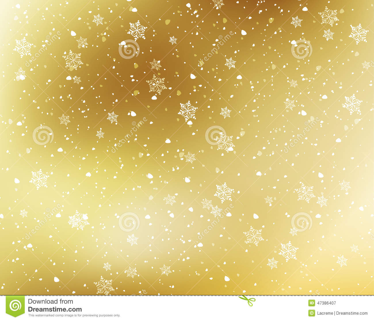 Snowflakes Background Stock Vector - Image: 47386407