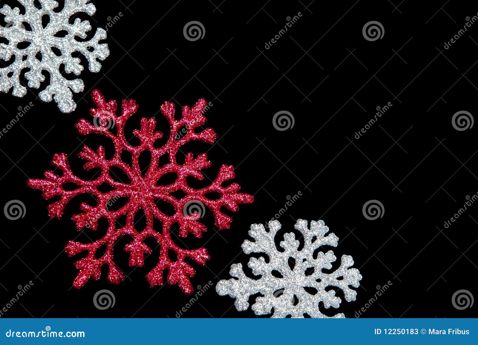 Snowflakes on black
