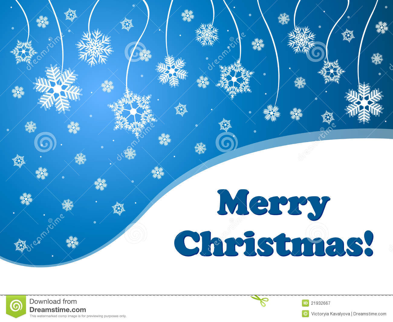 Snowflakes Blue Background Merry Christmas Royalty Free Stock ...