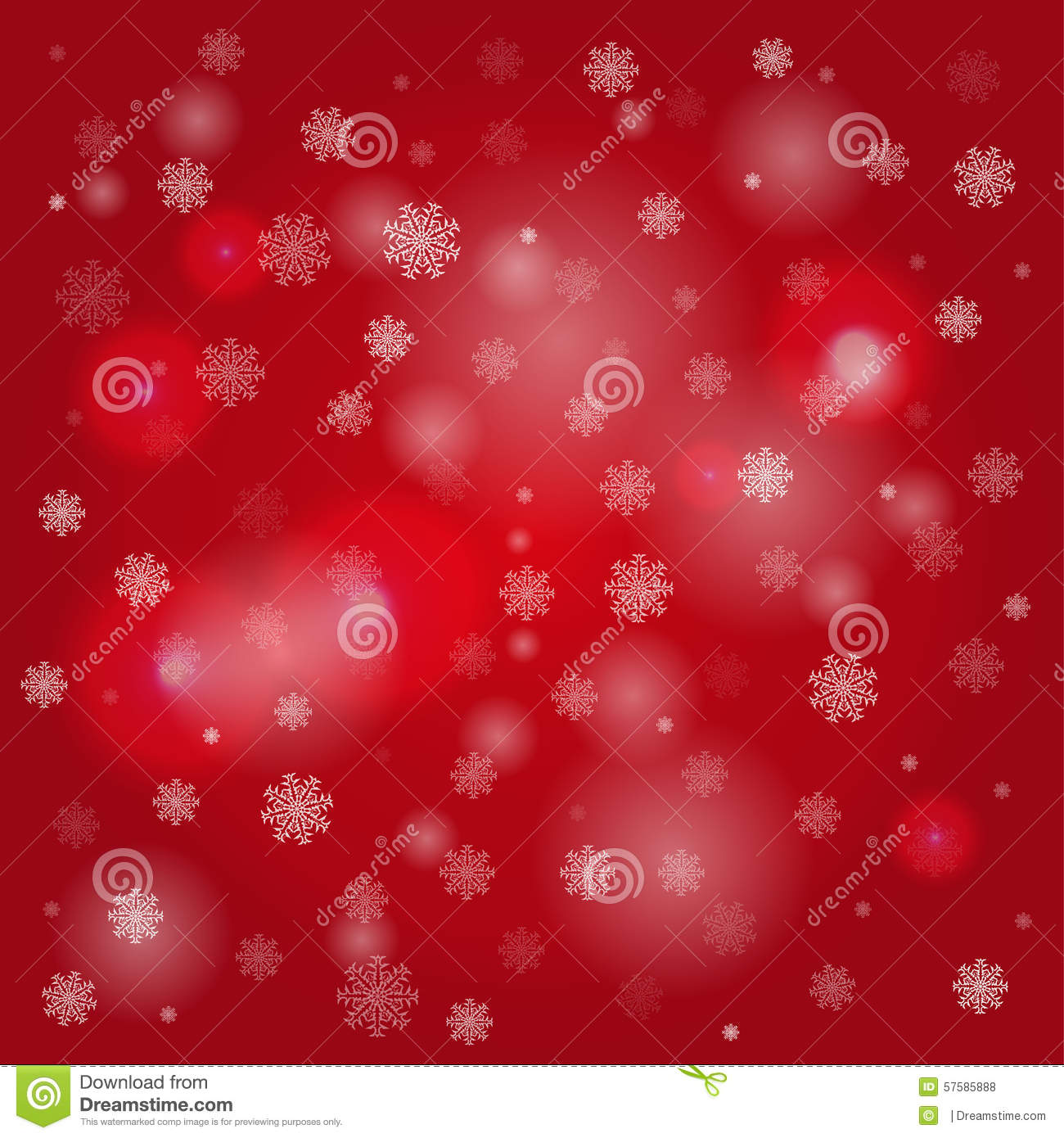 snowflakes and blurry lights on dark red background stock vector