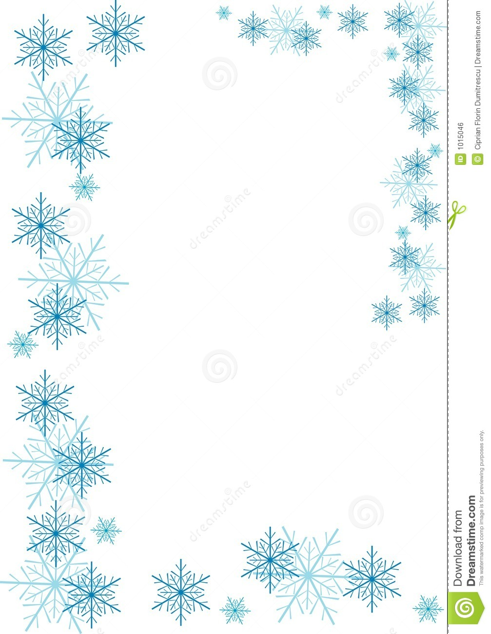 Snowflakes Border Royalty Free Stock Image - Image: 1015046