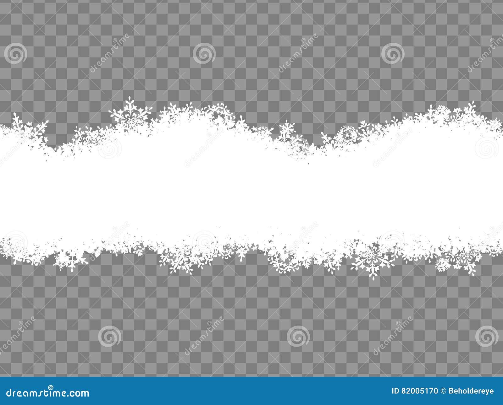 snowflakes border eps 10 stock vector illustration of celebration