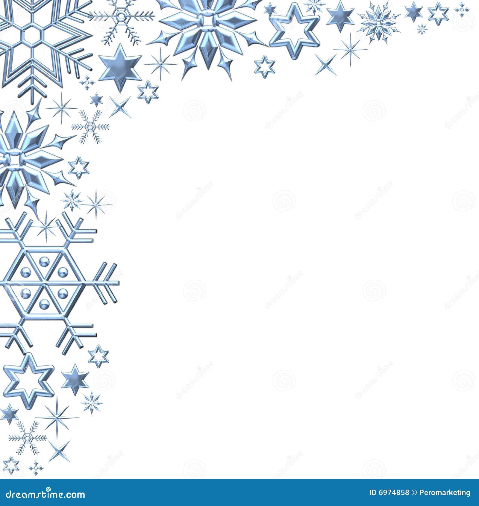 Snowflakes Border On White Royalty Free Stock Photos - Image: 6974858