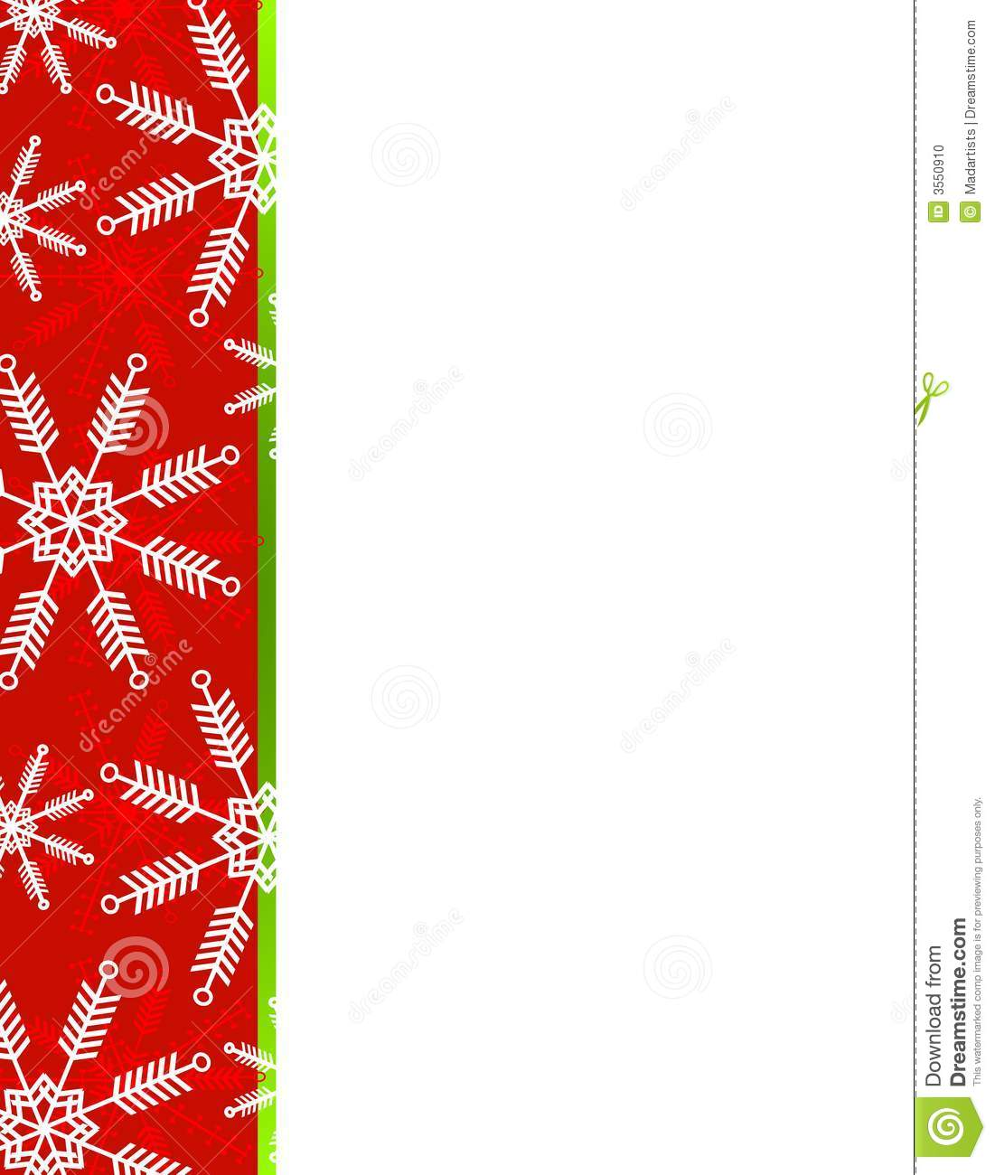 snowflakes christmas border stock illustration illustration of rh dreamstime com