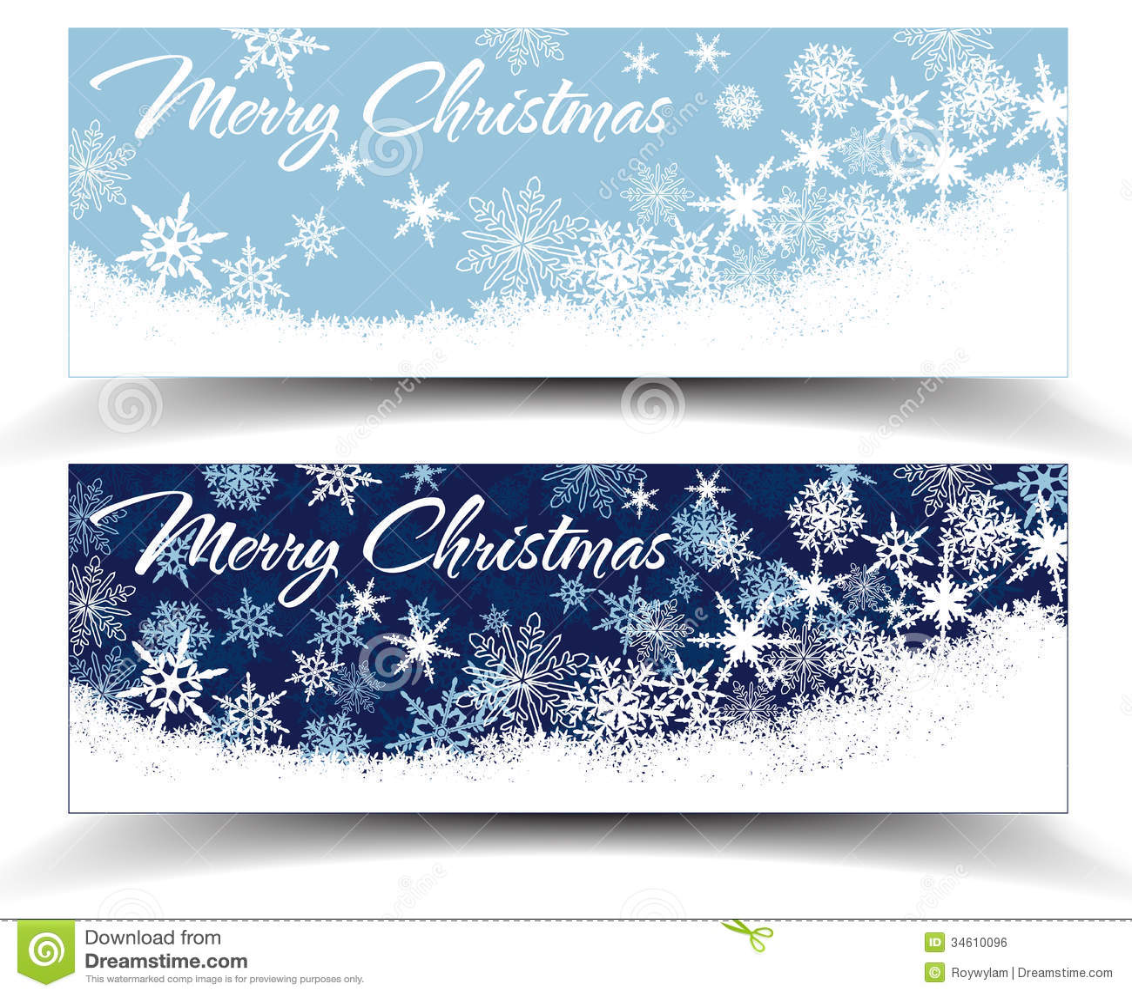 snowflakes christmas web banners royalty free stock image