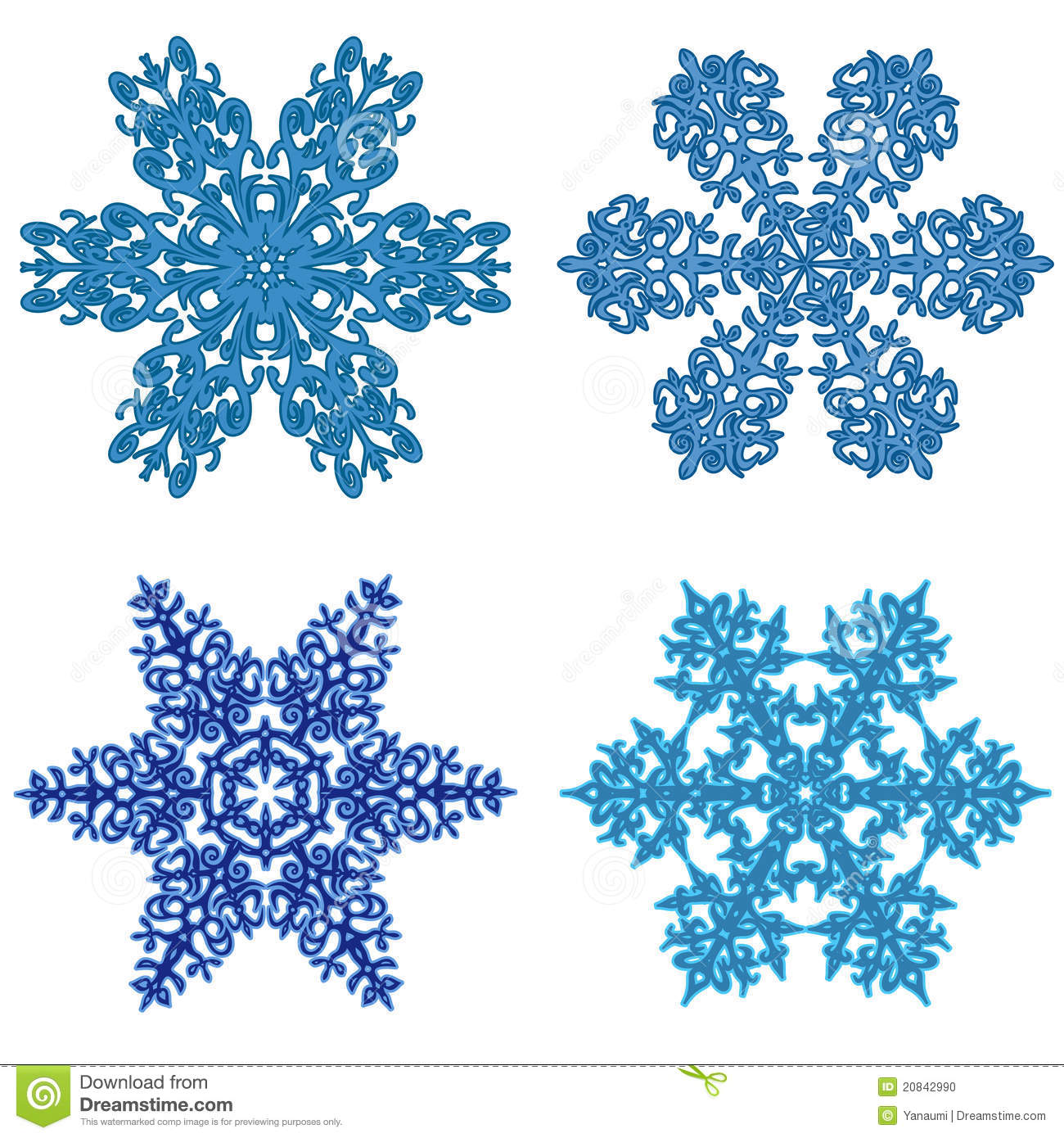 snowflakes clipart stock vector illustration of seasonal 20842990 rh dreamstime com Elegant Snowflake Clip Art White Snowflake Clip Art