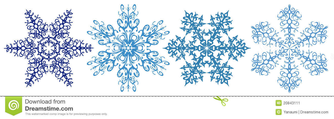 Snowflakes Clipart Strip Stock Image - Image: 20843111
