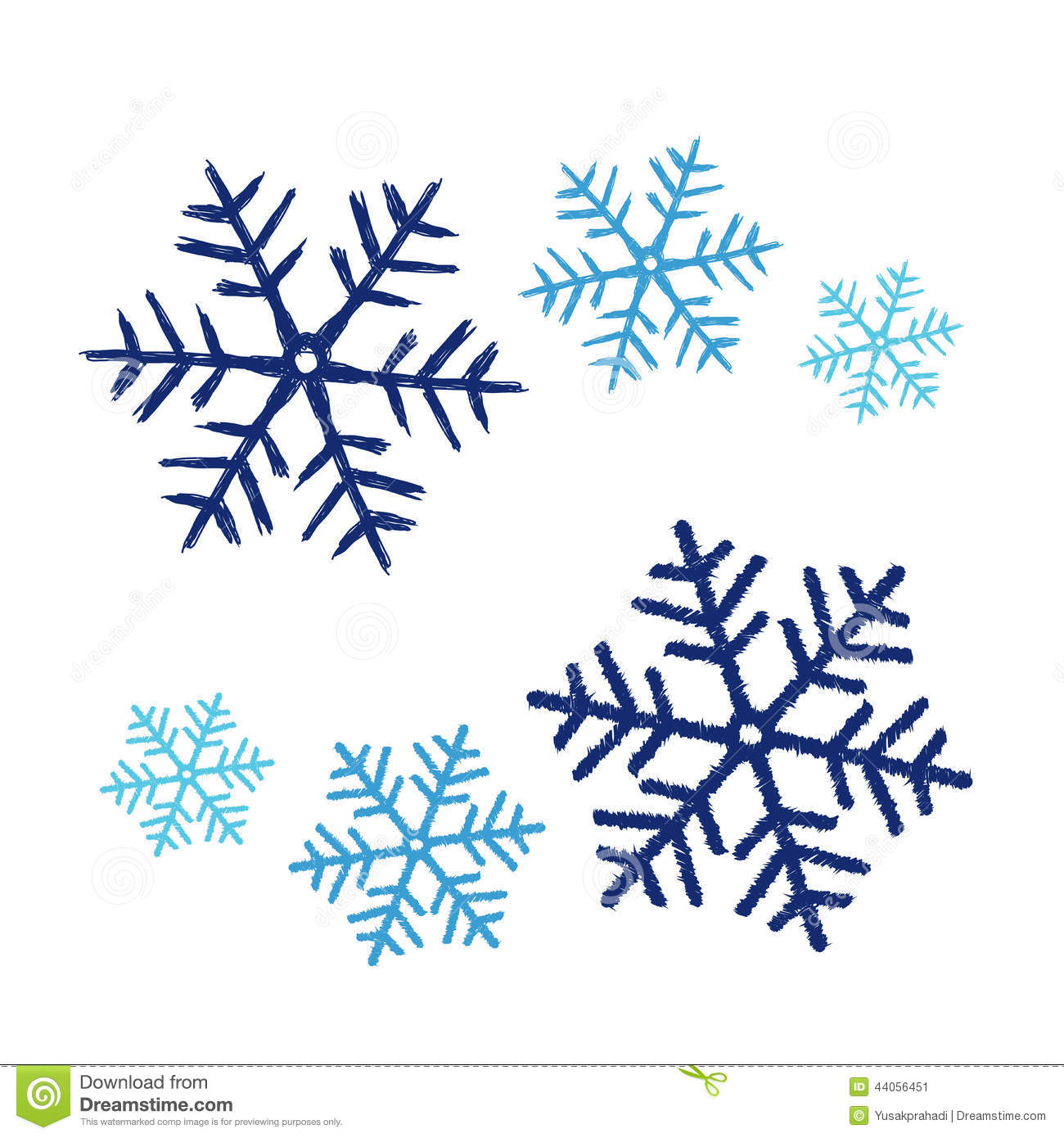 Doodle Snowflakes. Vector Background. Stock Images - Image: 35209924