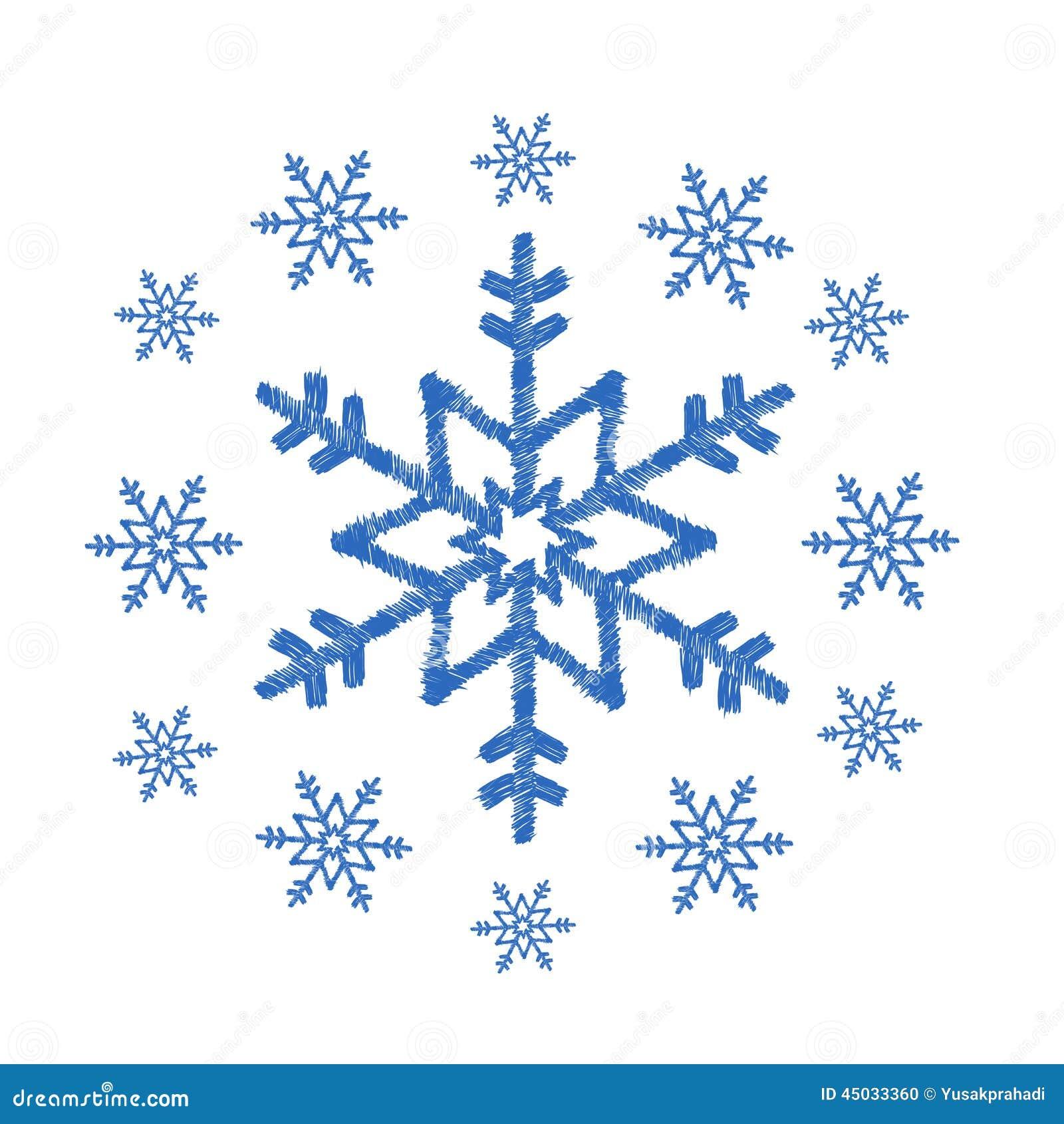 Set of snowflake doodles vector — Stock Vector © OlgaTropinina ...