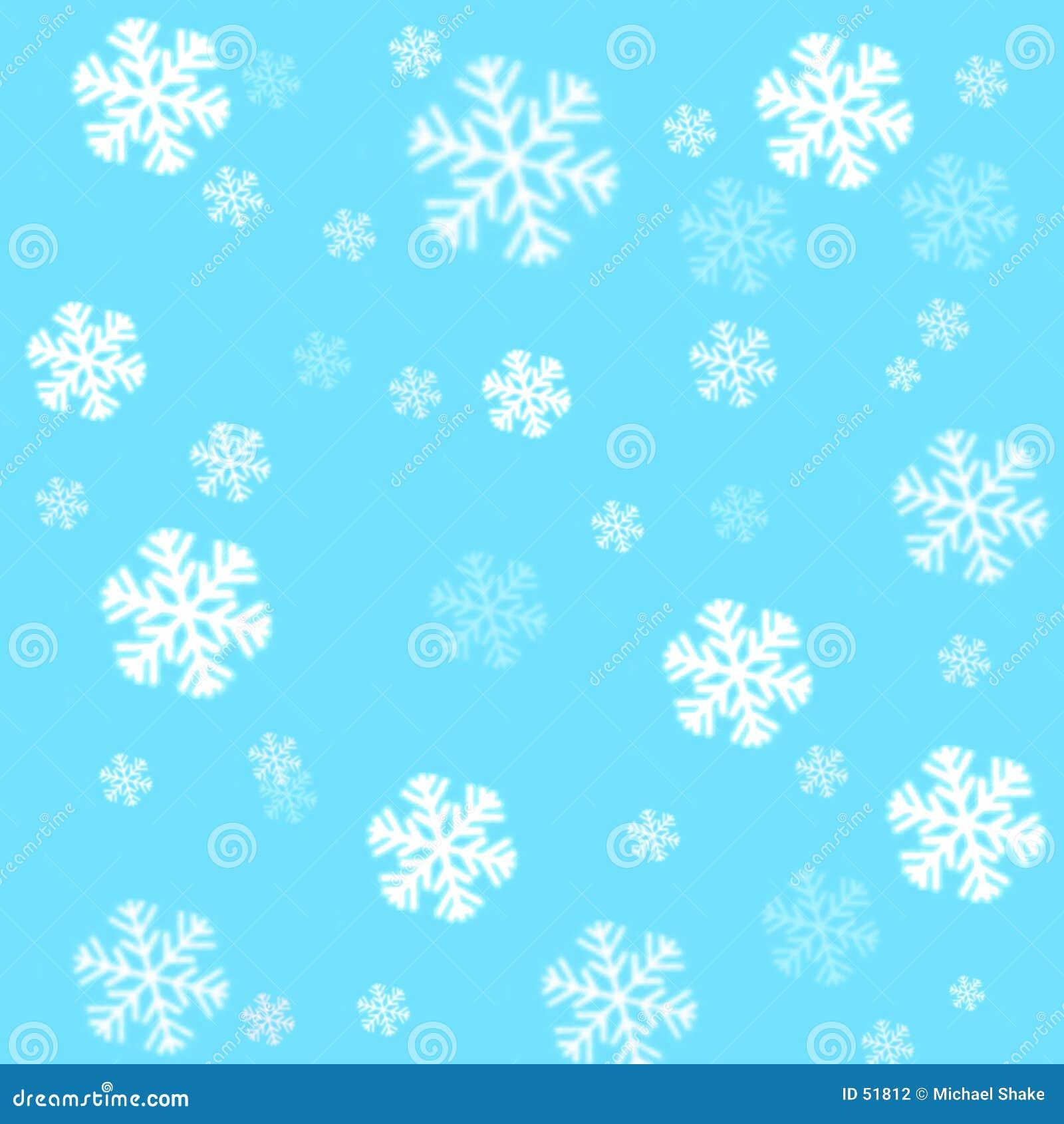 Snowflakes för blå sky för bakgrund