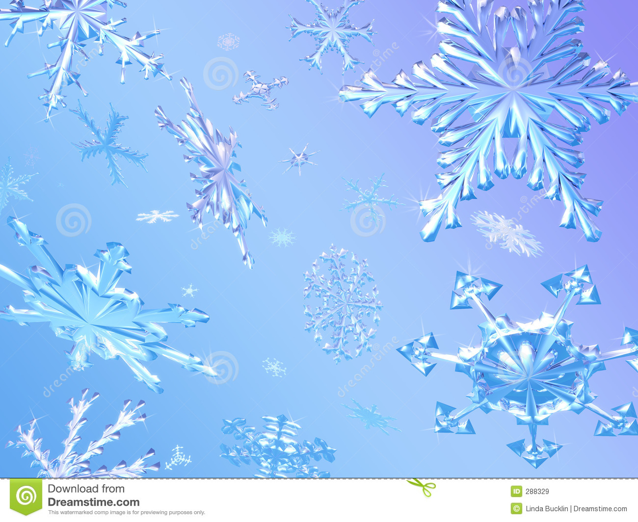 Snowflakes Falling Royalty Free Stock Images - Image: 288329