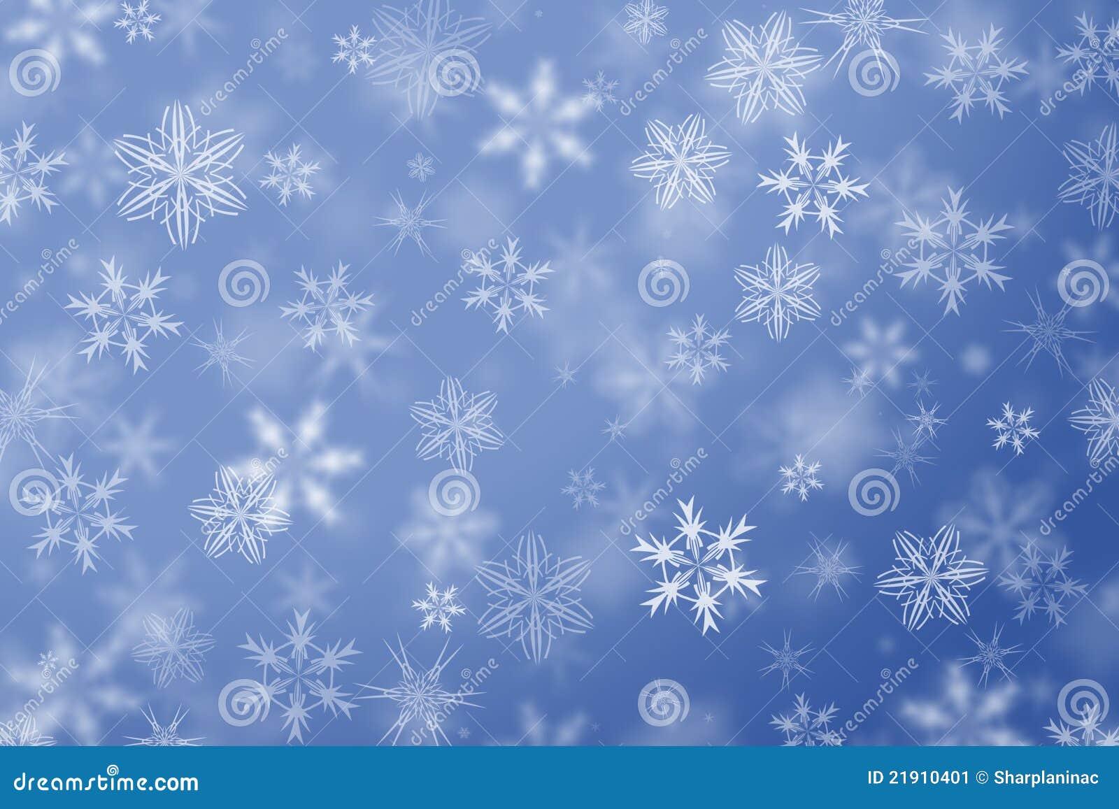 Snowflakes Falling Winter Background. Stock Image - Image: 21910401