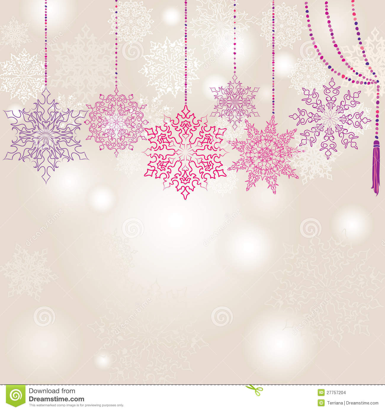 Snowflakes garland background stock images image