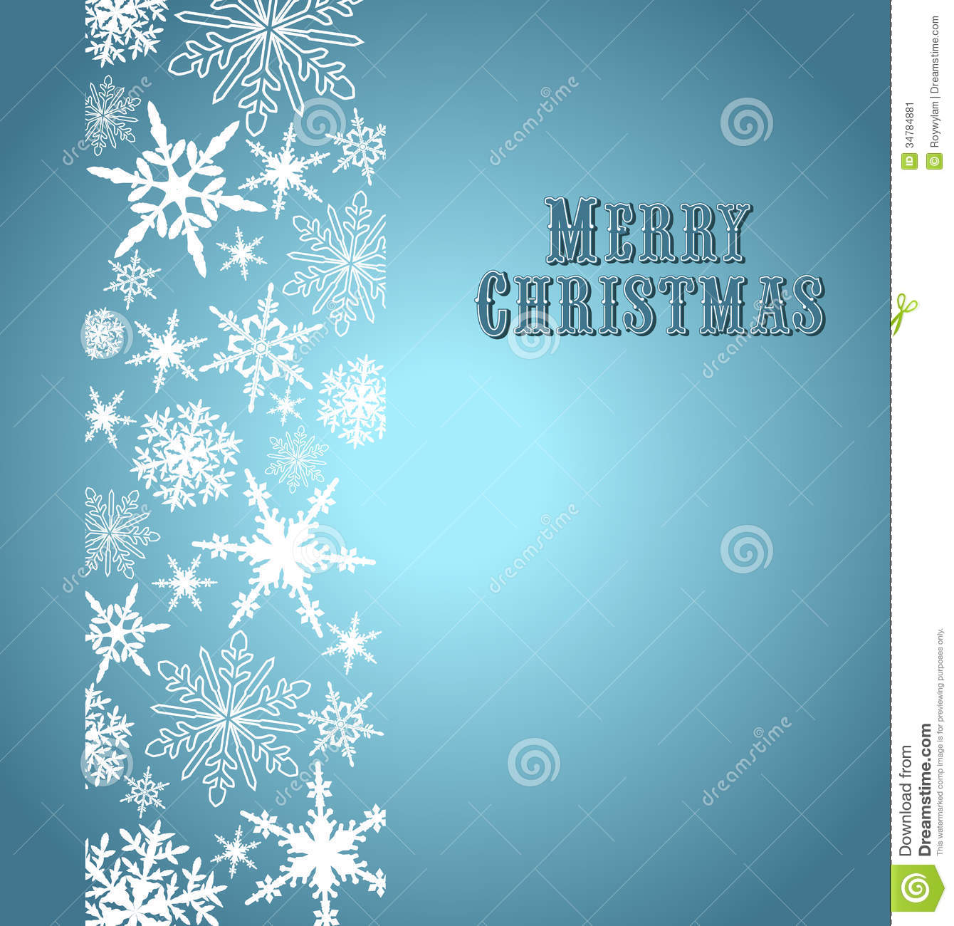 Snowflakes Merry Christmas Card Stock Image - Image: 34784881
