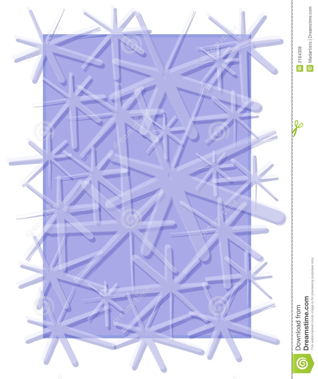 Snowflakes Pattern Winter Blue