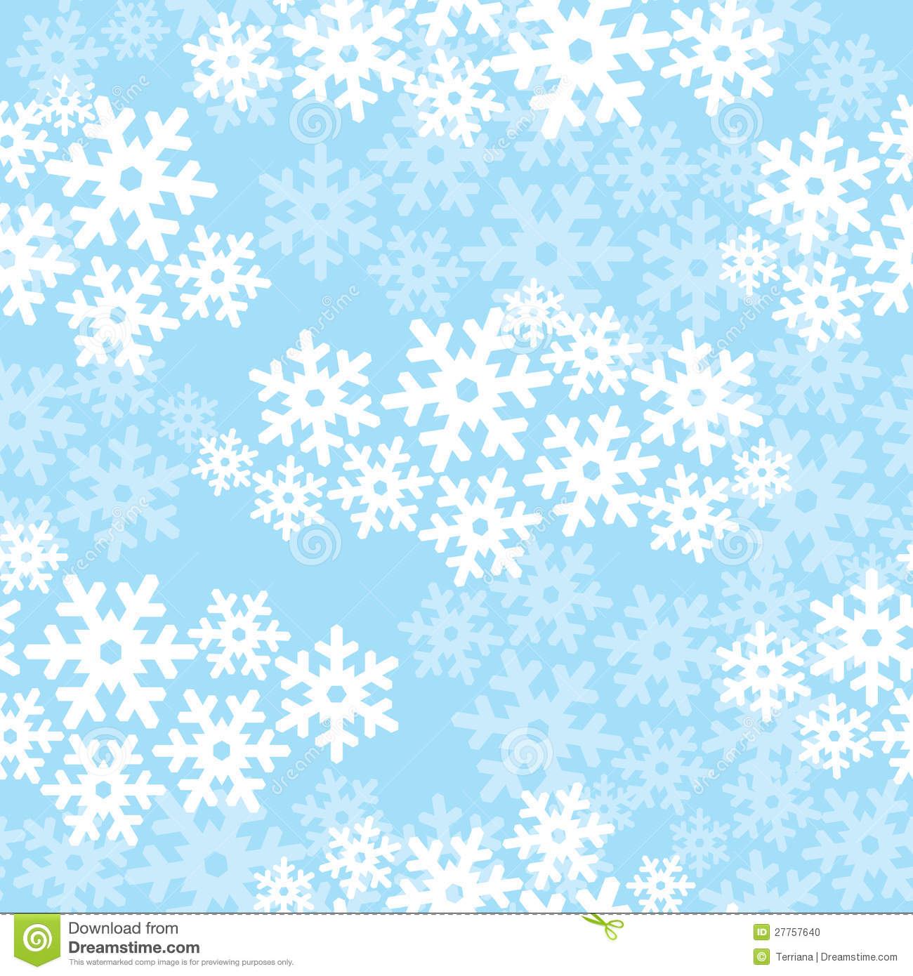Snowflakes Seamless Christmas Pattern Stock Photo - Image ...