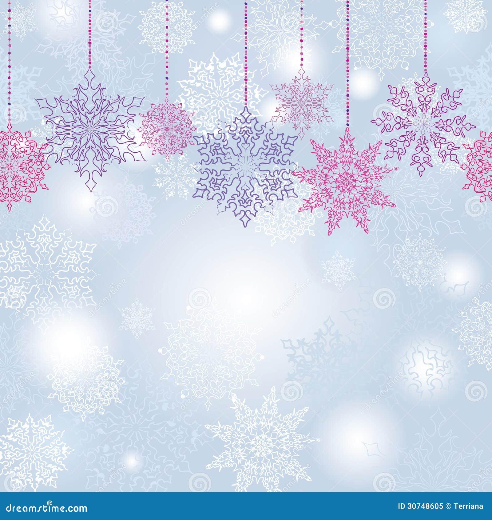 snowflakes seamless garland background royalty free stock photo