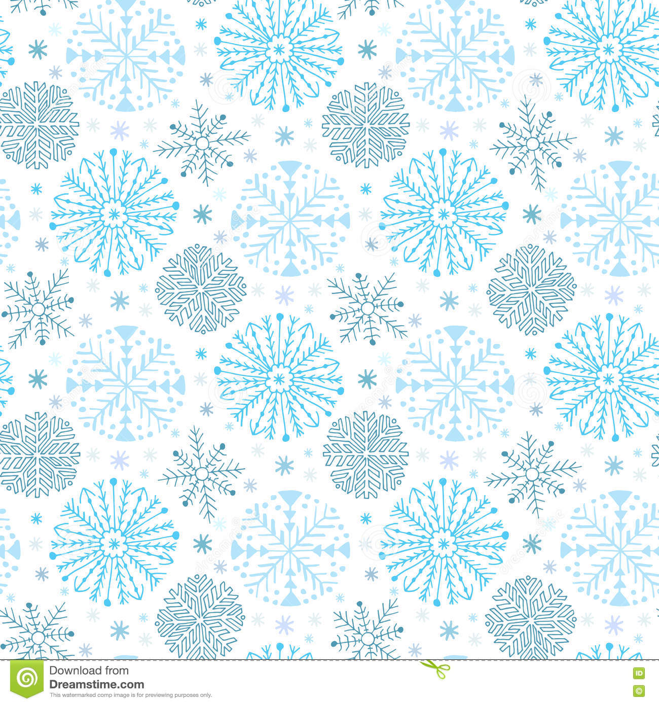 7dab6522392 Snowflakes seamless pattern. Winter background decoration. Christmas and  New Year design wrapping paper design