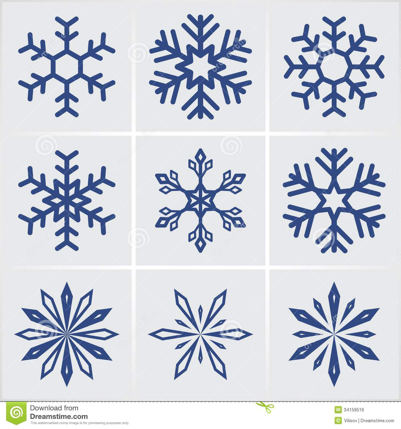 Snowflakes Royalty Free Stock Image - Image: 34159516