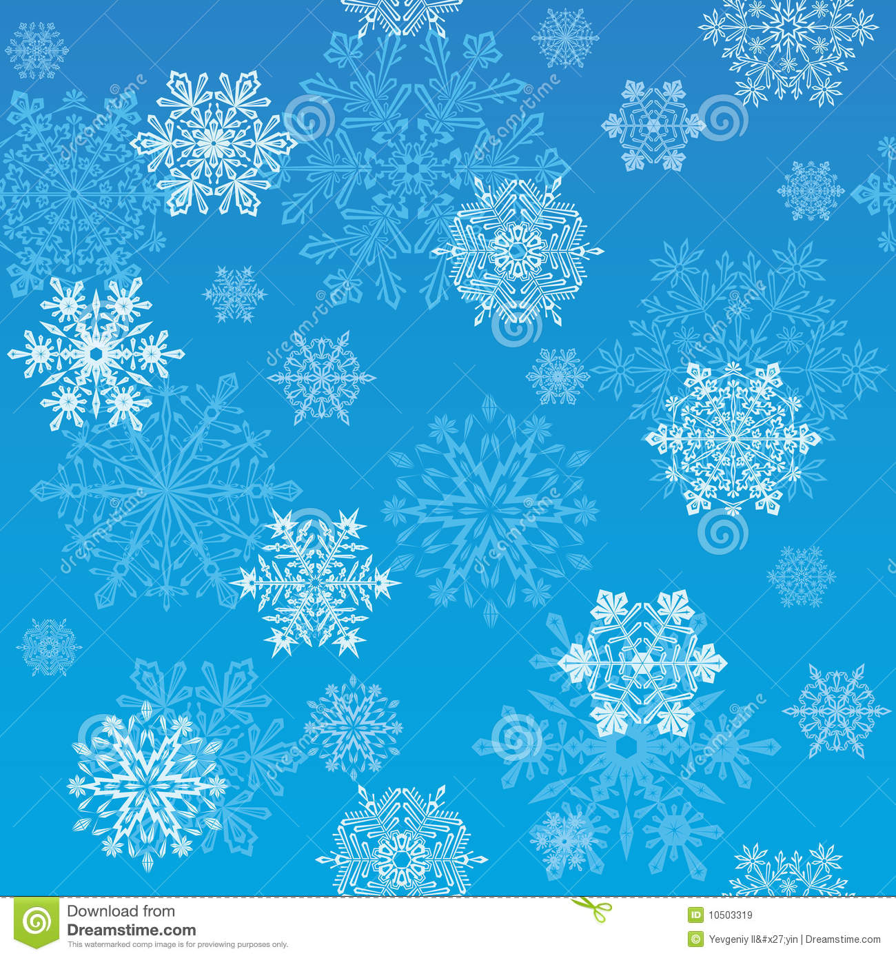 snowflakes wallpaper stock vector image of picture