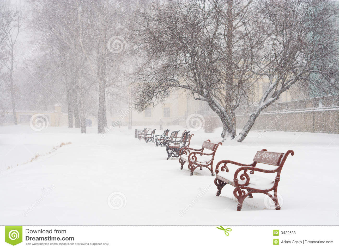 Snowing Royalty Free Stock Photos Image 3422688