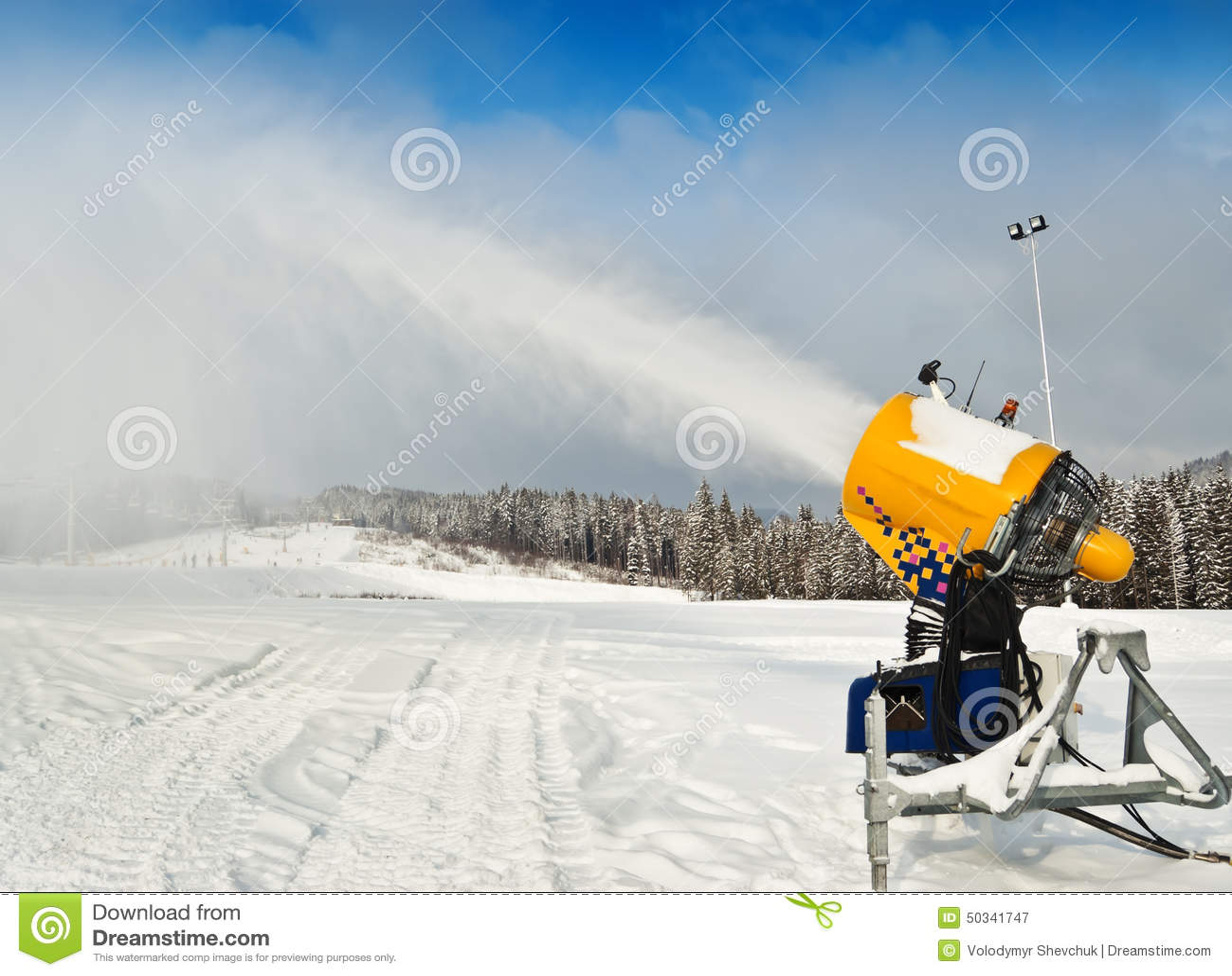 Snowmaker stock photo image
