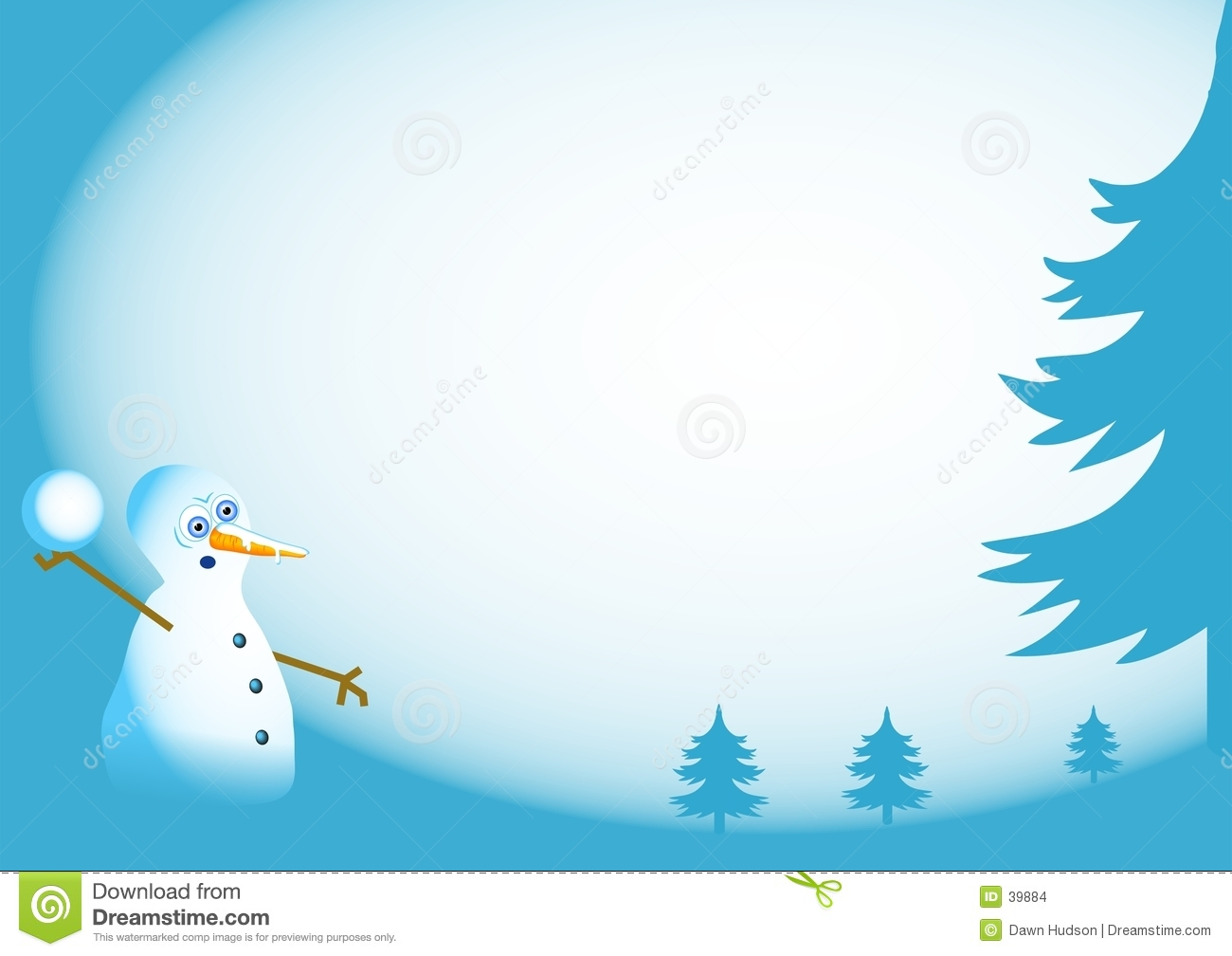 Snowman Background Stock Images - Image: 39884