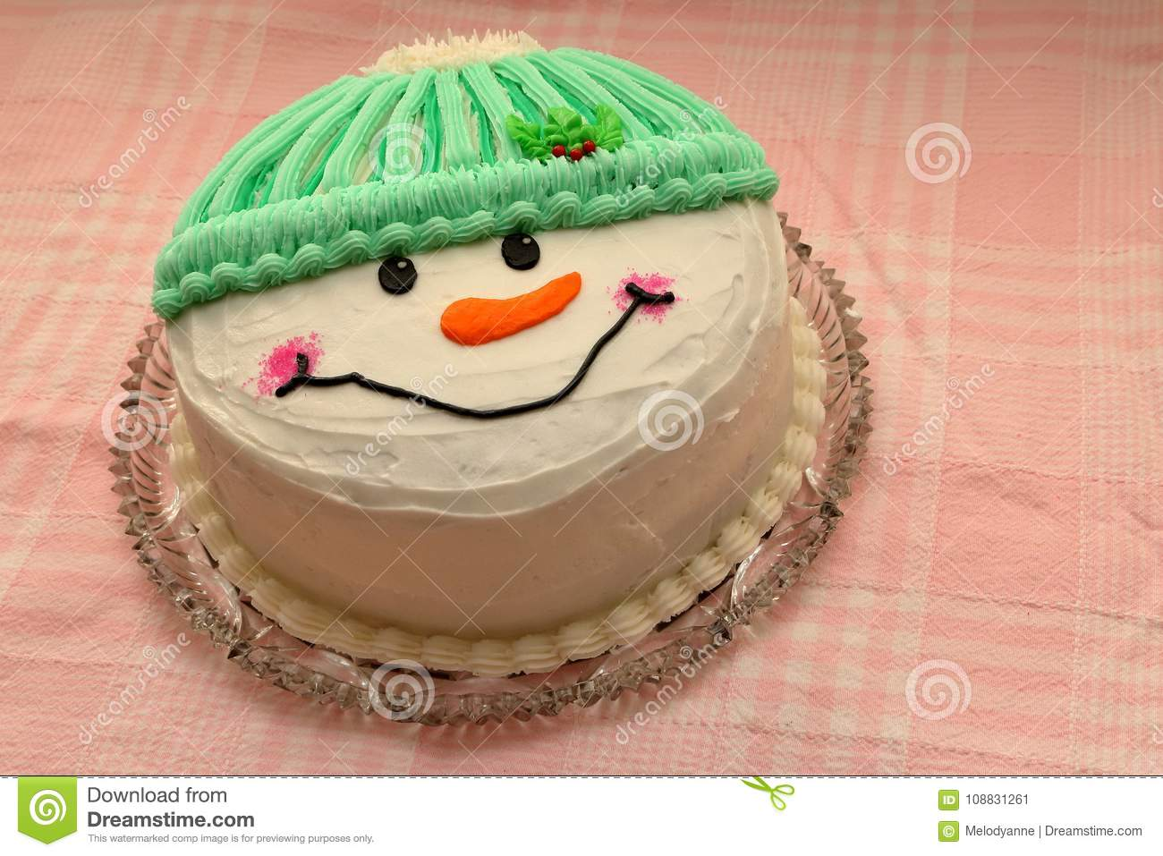 Super Snowman Birthday Cake Stock Image Image Of Christmas 108831261 Personalised Birthday Cards Petedlily Jamesorg