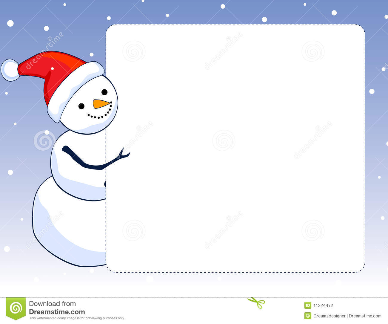 Snowman Border / Frame Stock Photography - Image: 11224472