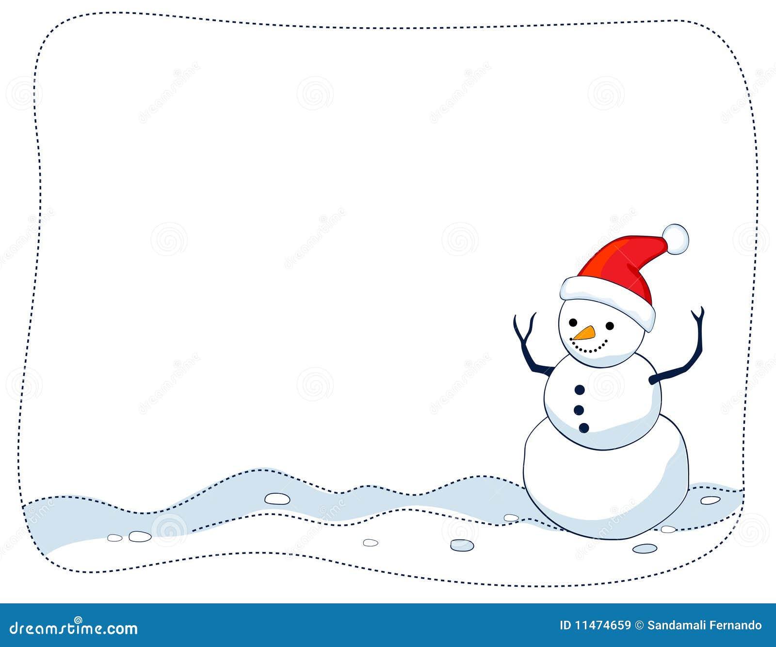 Snowman border / frame stock vector. Illustration of ...