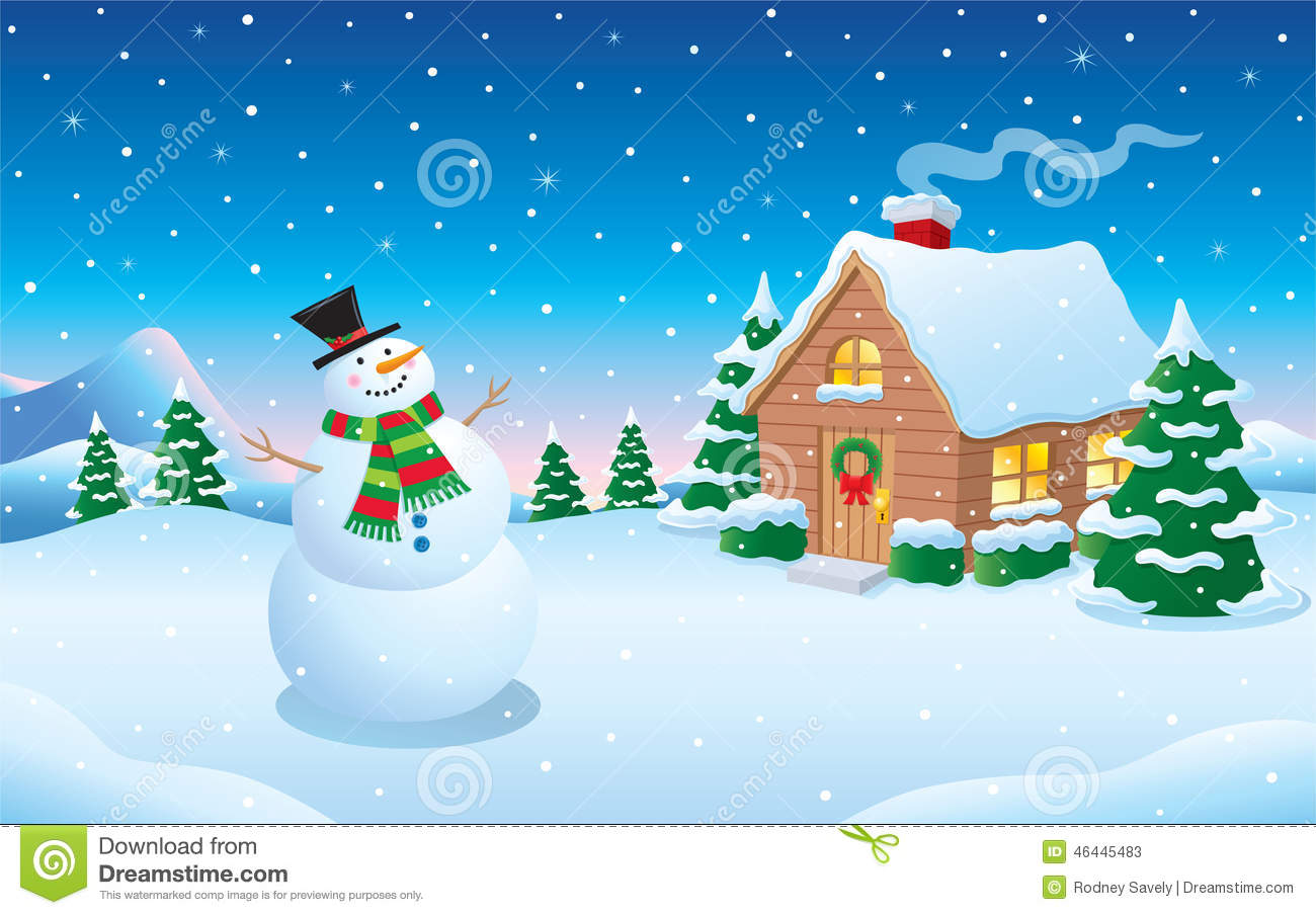 winter snowman and cabin clipart Free Christmas Animated Clips Free Animated Christmas Graphics