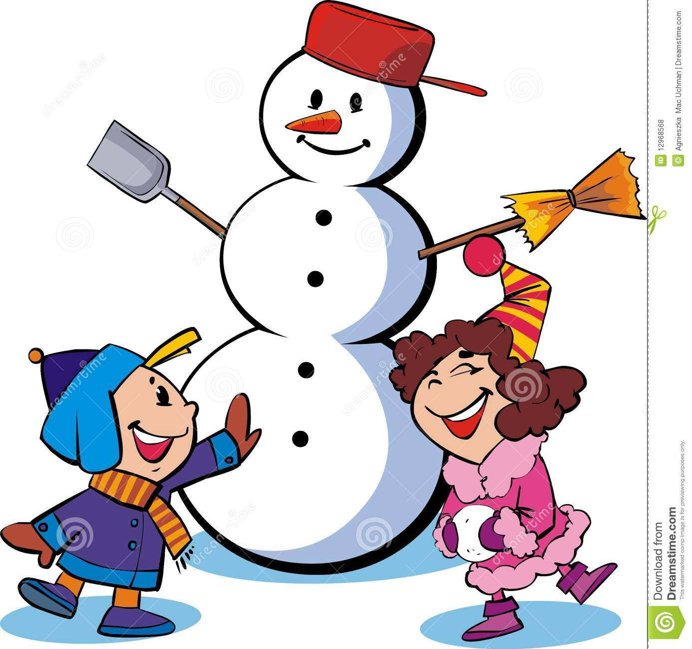 download its about Related Snowman And Childrensnow Fun pic