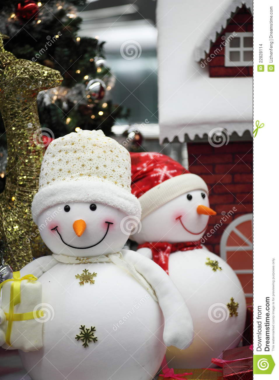 Snowman For Christmas Decoration Stock Images Image