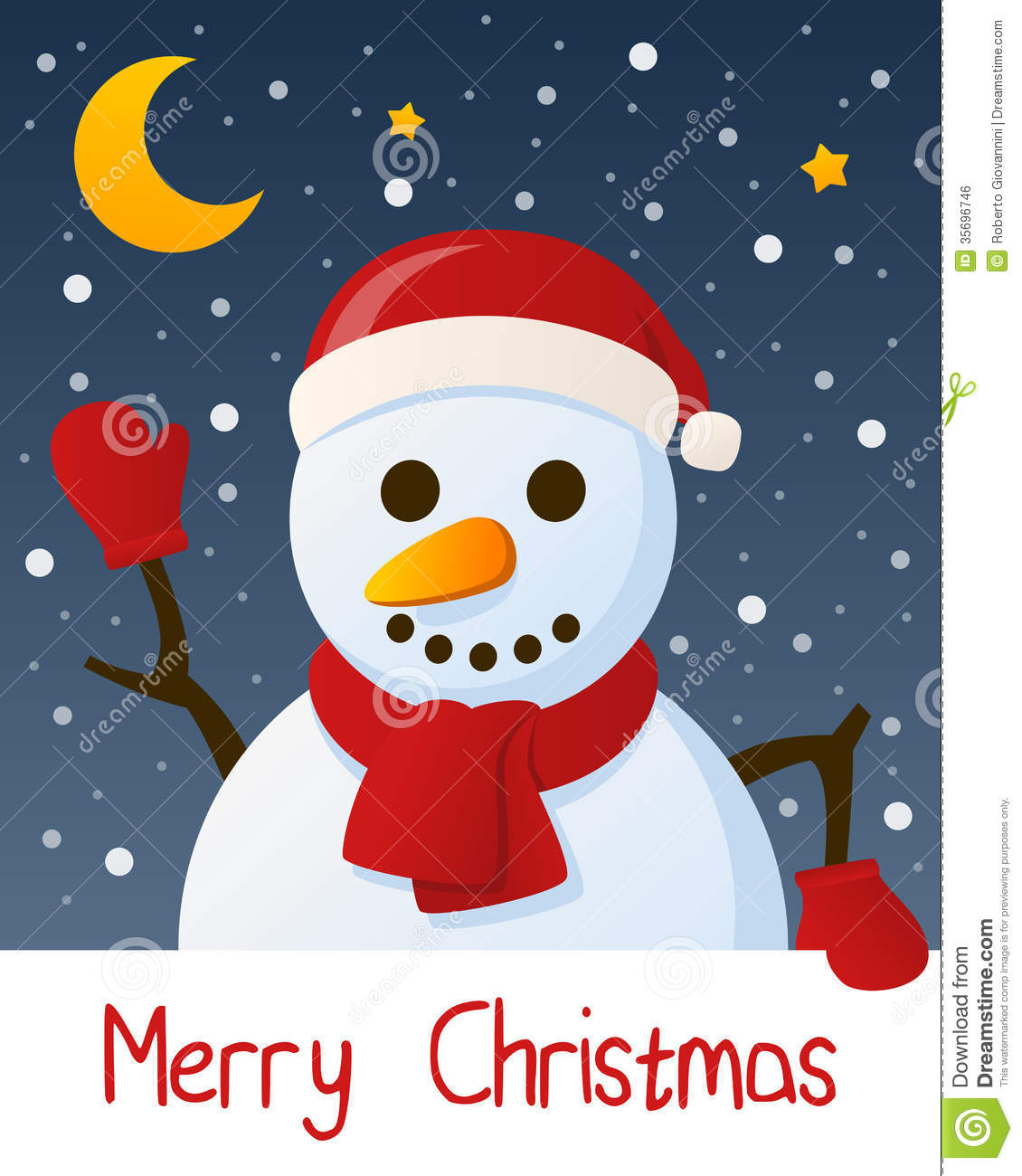 Snowman Christmas Cards Ideas.Snowman Christmas Greeting Card Stock Vector Illustration