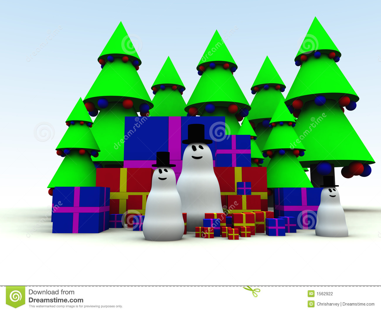 Snowman and Christmas Presents 12