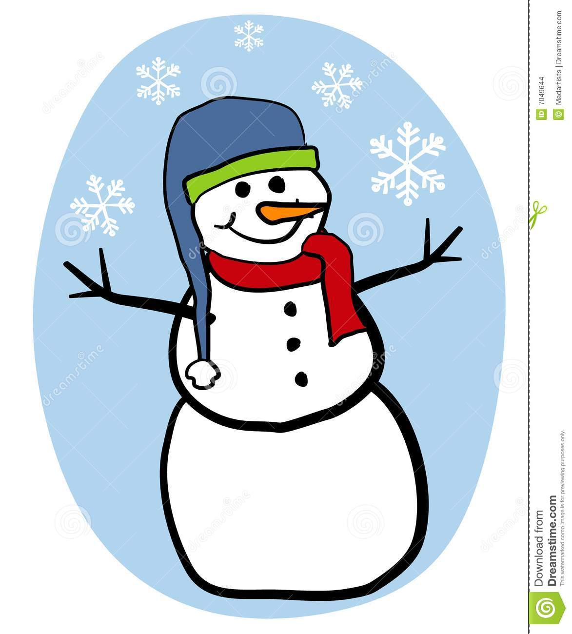 snowman clip art stock illustration illustration of cartoon 7049644 rh dreamstime com clipart of melting snowman clipart of snowman black and white