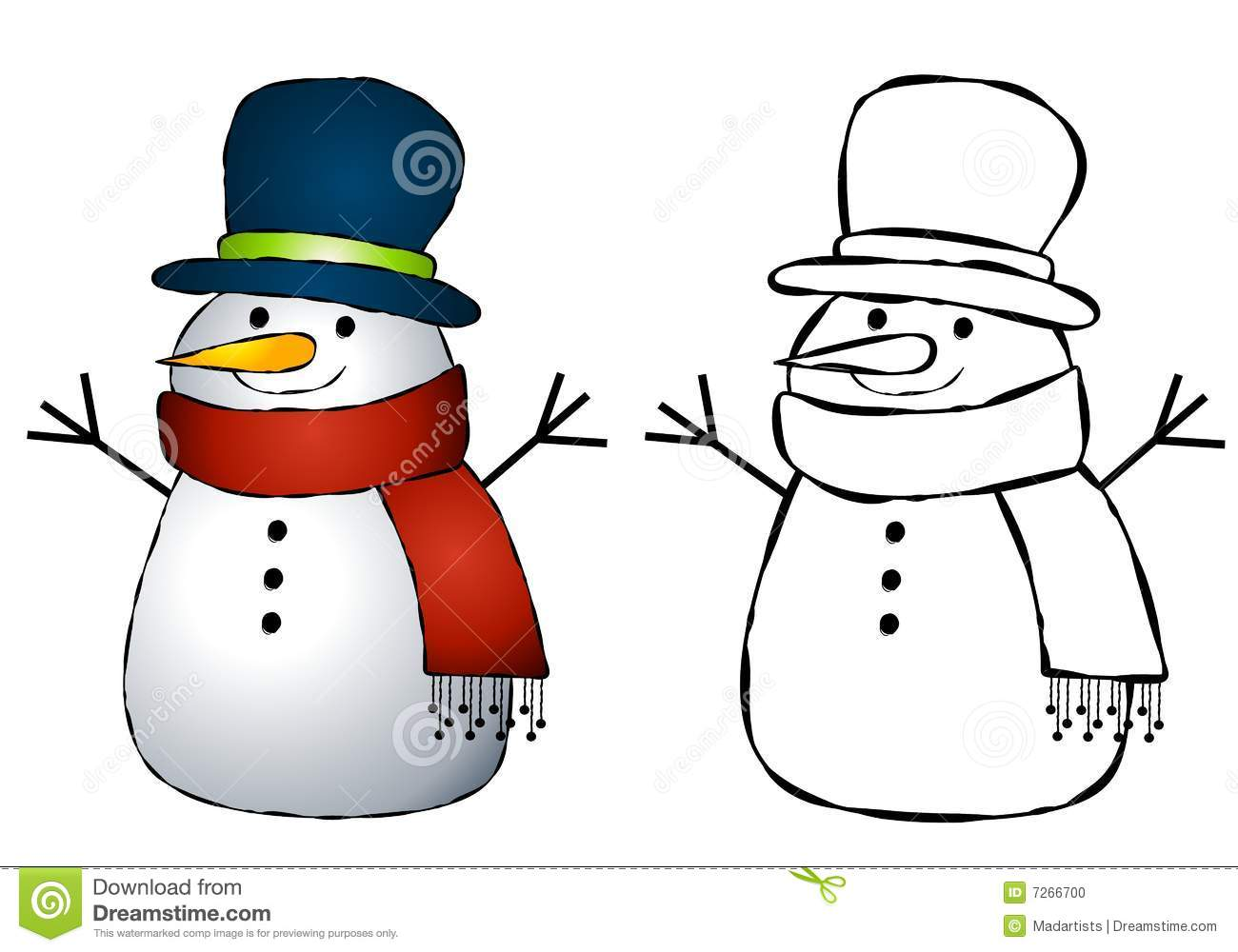 Snowman Clip Art Stock Photo - Image: 7266700