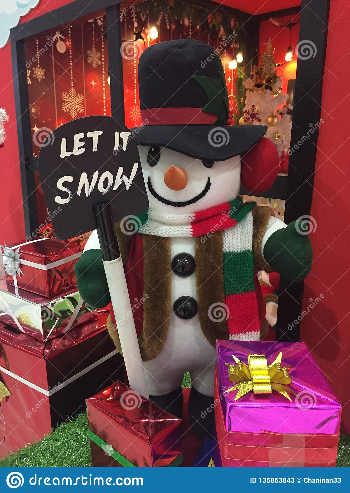 Snowman is coming to town.
